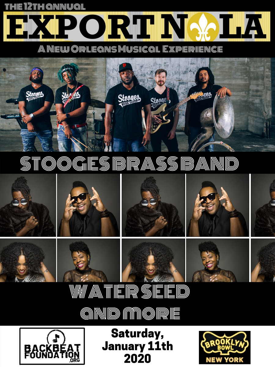 Export NOLA feat. Stooges Brass Band + Water Seed + Erica Falls