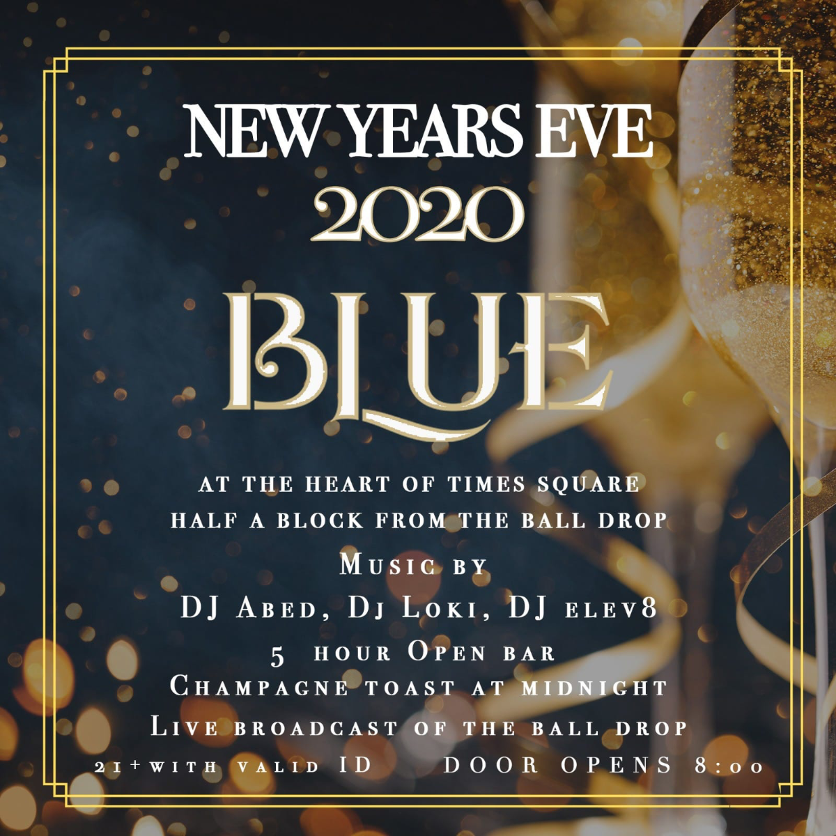 New Years Eve at Blue Midtown #1 Times Square Mega Club ...