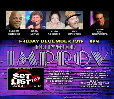 Set List with Alonzo Bodden, Paul Provenza, Drew Lynch, Eliza Skinner, Rick Overton, and a Special Guest TBA!