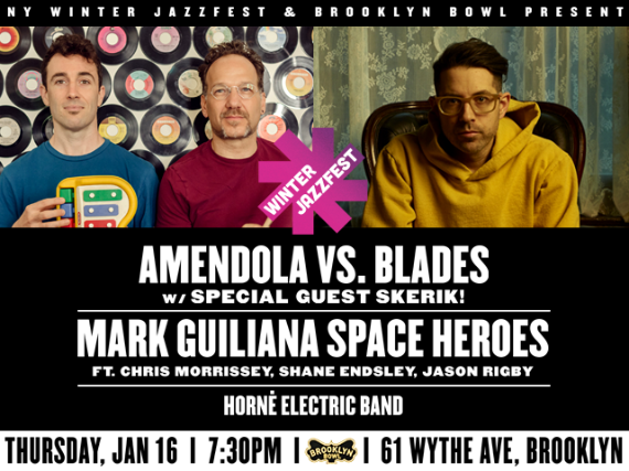 More Info for Amendola vs. Blades w/ special guest Skerik!+Mark Guiliana SPACE HEROESft. Chris Morrissey, Shane Endsley, Jason Rigby