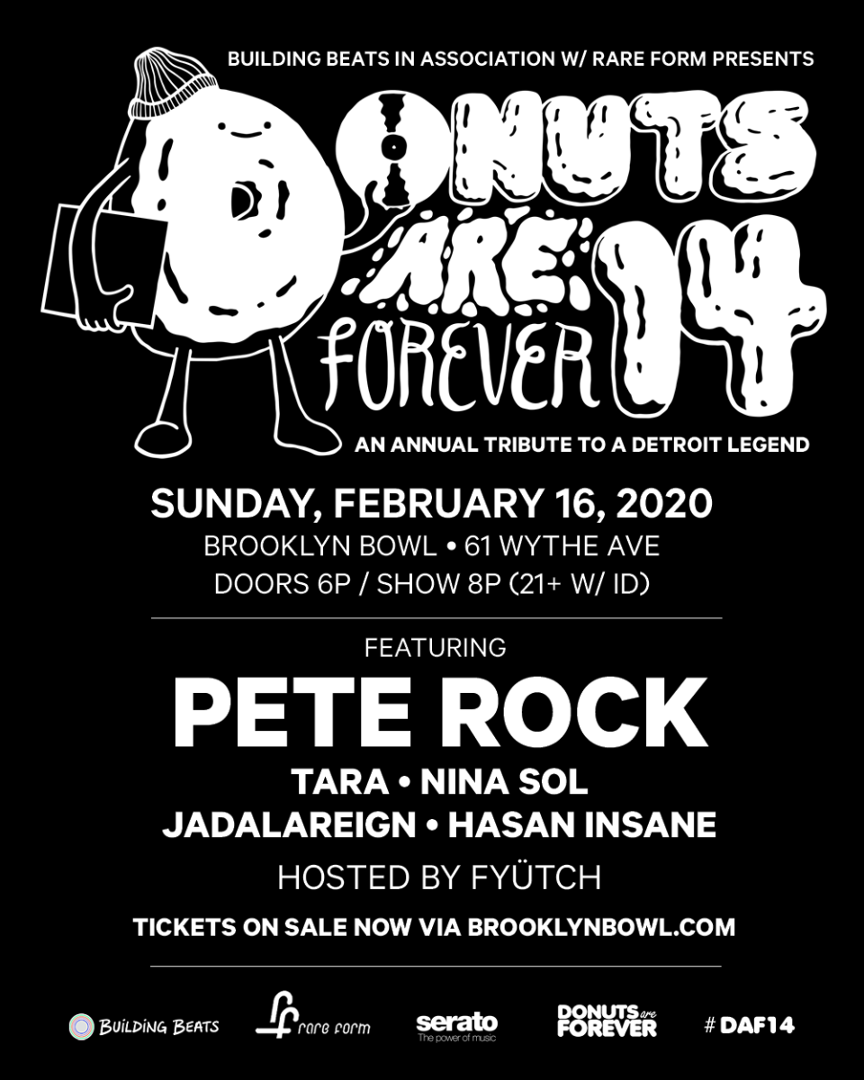 Donuts Are Forever 14 ft. Pete Rock, Jadalareign, Nina Sol, Tara Jadalareign + Hasan Insane