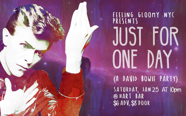 Just For One Day (A David Bowie Party)  at Hart Bar