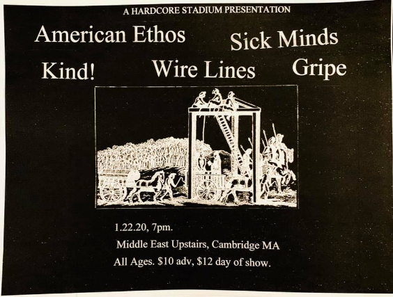 American Ethos, SICK MINDS, Kind, Wire Lines, Gripe