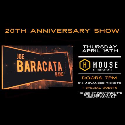 Joe Baracata Band: 20th Anniversary Show
