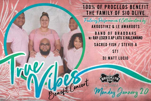 True Vibes Benefit Concert feat. ST-1, HaleAmano, Band of Braddahs + more!