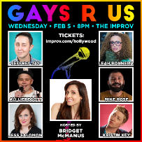 Gays R Us! ft. Bridget McManus, Leah Bonnema, Jeffrey Jay, Kristin Key, Ali Liebegott, Mike Rose, Jess Salomon, and more!