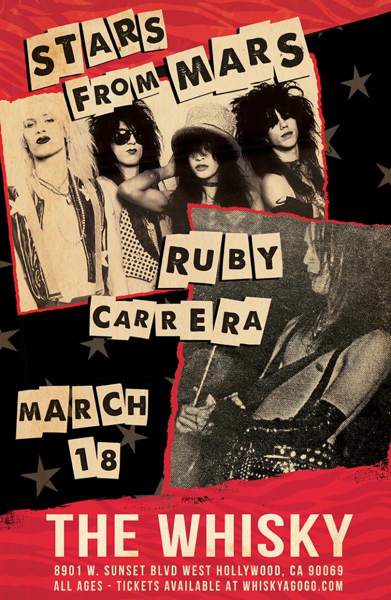 Stars From Mars, Ruby Carrera Band, Mr. KicKs, Mortis the Devils Reject