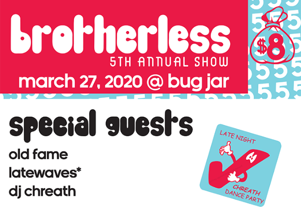 Brotherless, Old Fame, latewaves at The Bug Jar