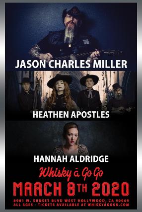 Jason Charles Miller, Heathen Apostles, Hannah Aldridge