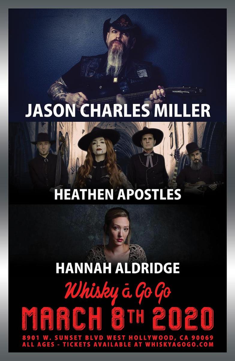 Jason Charles Miller, Heathen Apostles, Hannah Aldridge, The Nuggets, Fox & the Red Hares