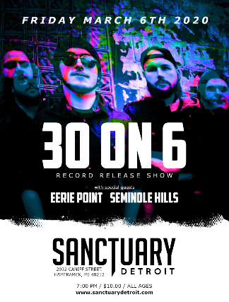 30 On 6 EP Release Show at The Sanctuary