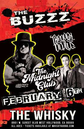 The Midnight Club, The Buzzz, Black Hesher at Whisky A Go Go