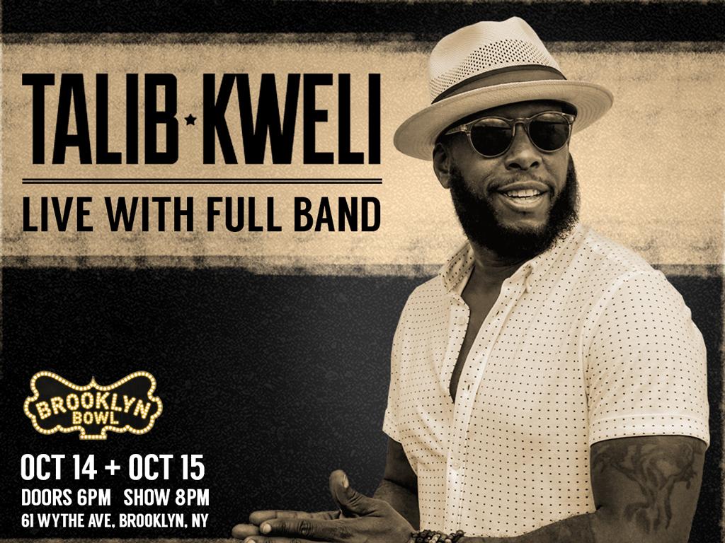 Talib Kweli LIVE with Full Band!