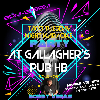Karaoke Every Tuesday at Gallagher's Pub HB