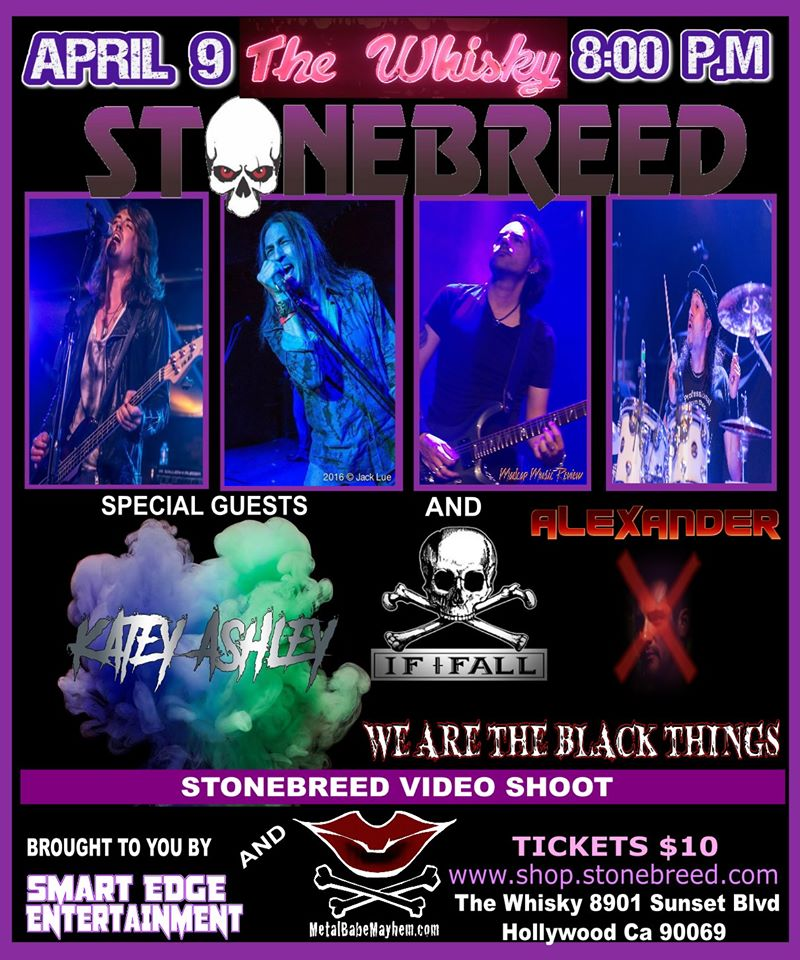Stonebreed, Katey Ashley, If I Fall, We Are The Black Things, AlexanderX, Dead West