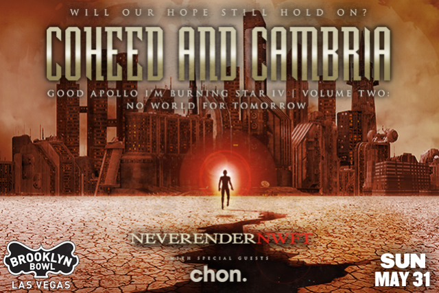 More Info for ***CANCELLED *** Coheed and Cambria - Neverender: NWFT w/ special guest Chon