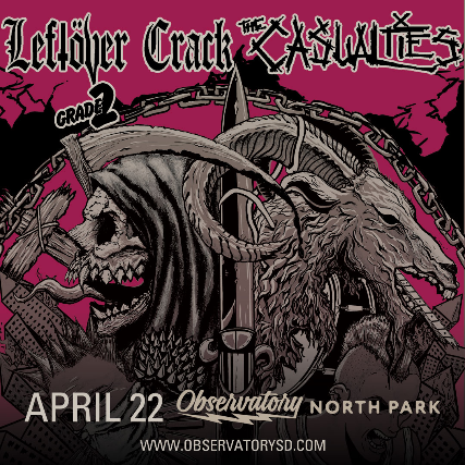 Leftöver Crack + The Casualties + Grade 2 + Project Sell Out- POSTPONED event image