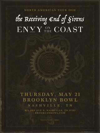 More Info for The Receiving End of Sirens + Envy On The Coast