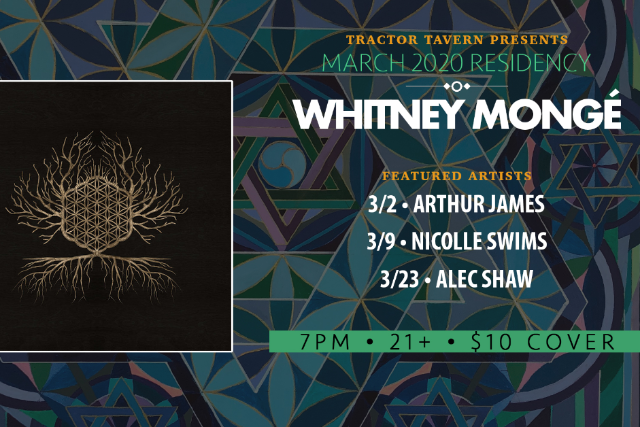 Singer Songwriter Residency curated by Whitney Mongé