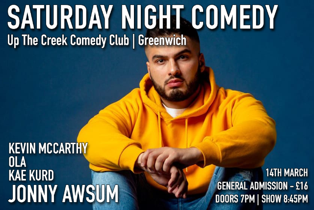 Saturday Night Comedy at Up The Creek Sat 14 Mar