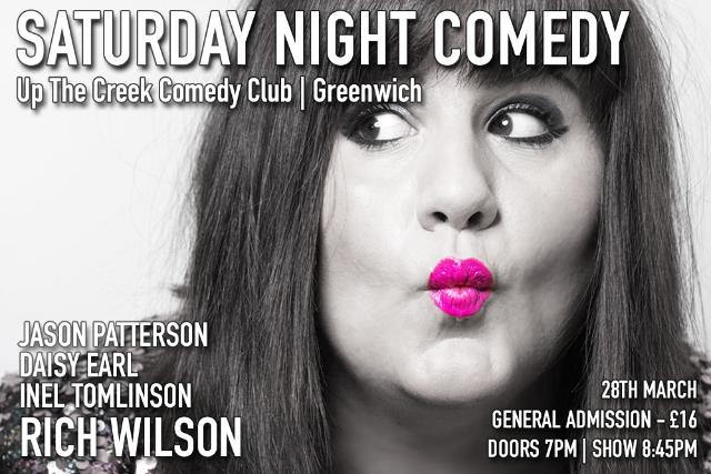 Saturday Night Comedy at Up The Creek Sat 28 Mar