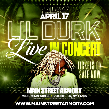 Lil Durk at Marina Jeep Arena at The Main Street Armory