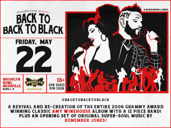 More Info for back to BACK TO BLACK: Amy Winehouse Tribute feat. Remember Jones + 12-piece orchestra