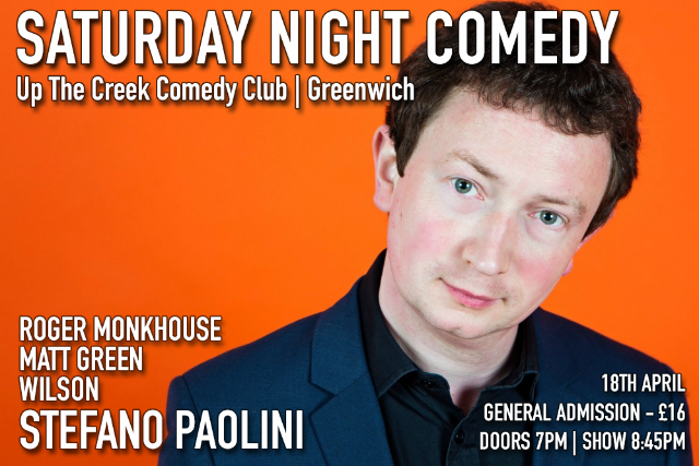 Saturday Night Comedy at Up The Creek Sat 18 Apr