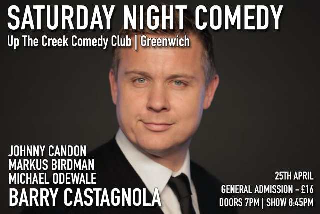 Saturday Night Comedy at Up The Creek Sat 25 Apr