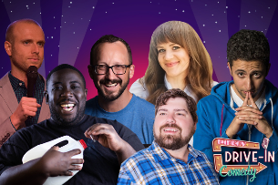 Improv Live Comedy Drive In: Hot Nights, Cool Comics featuring Mitch Burrow, Lara Beitz, David Gborie, Kellen Erskine, Fahim Anwar & Chris Porter