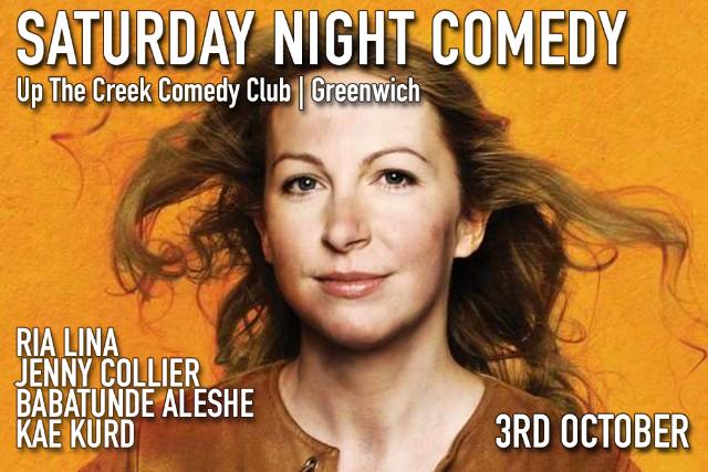 Saturday Night Comedy Sat 03 Oct