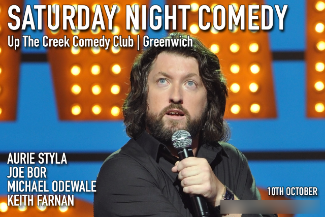 Saturday Night Comedy Sat 10 Oct