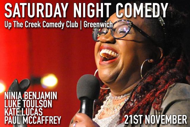 Saturday Night Comedy Sat 21 Nov