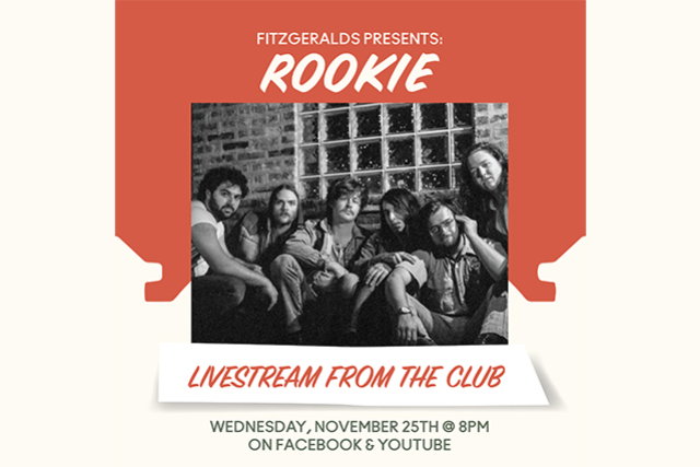 LIVESTREAM with ROOKIE at FitzGerald's