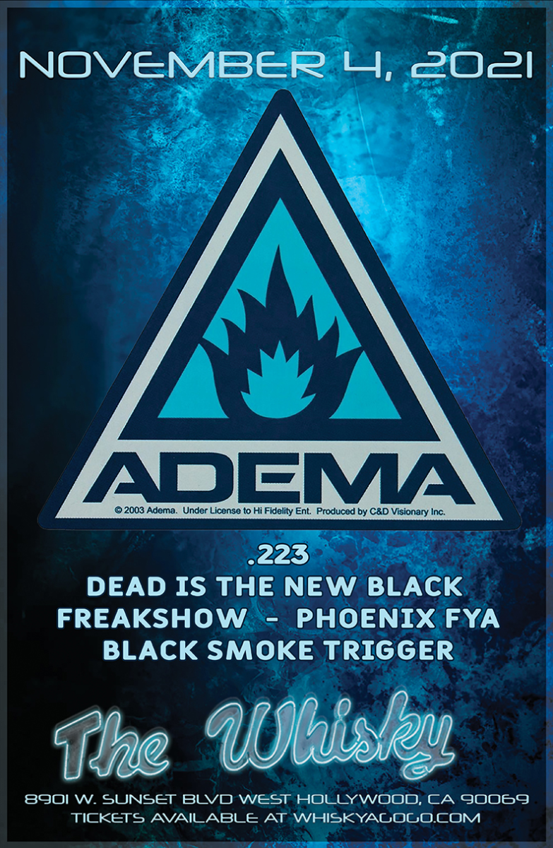 ADEMA, Daybreak Ends, .223, Dead is the New Black, This Fire Burns