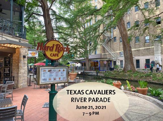 Texas Cavaliers River Parade at Hard Rock Cafe