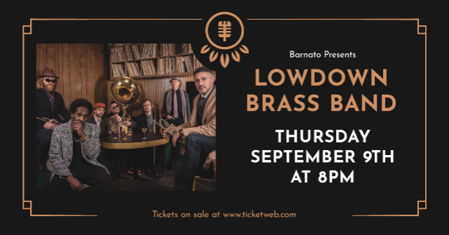 The LOWDOWN BRASS BAND...presented by JSP Productions