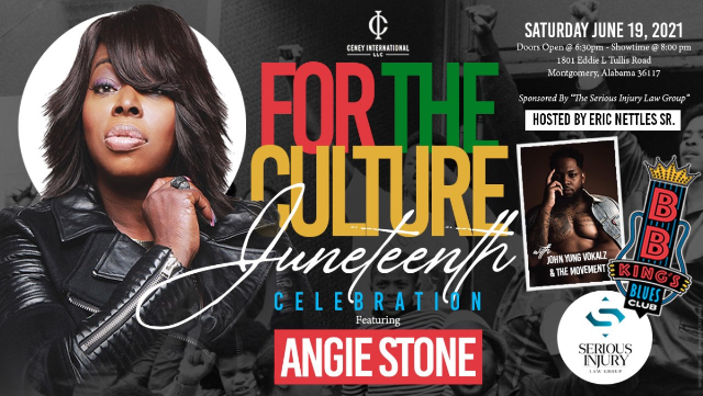 For the Culture Juneteenth Celebration ft. Angie Stone