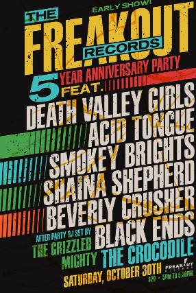 The Freakout Records 5 Year Anniversary Party feat.