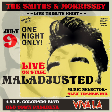 The Smiths/Morrissey tribute with Maladjusted at The Mixx