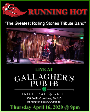 Running Hot- Rolling Stones Tribute at Gallagher's Pub HB