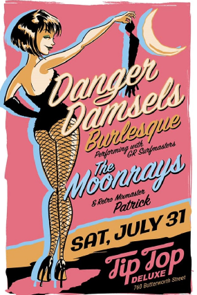 Danger Damsels with The Moonrays and Patrick