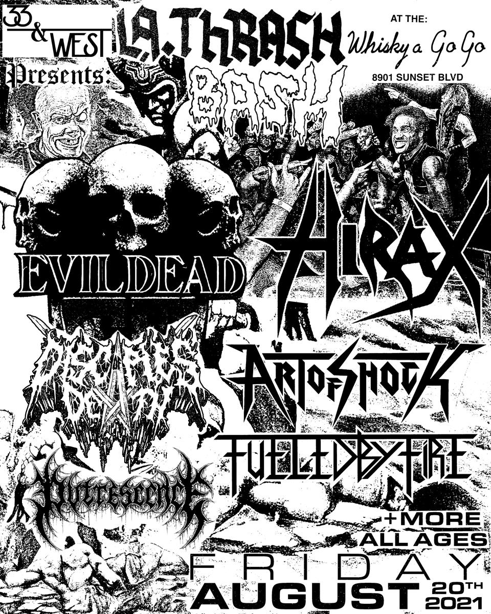 EVILDEAD, Hirax, Art Of Shock, Fueled By Fire