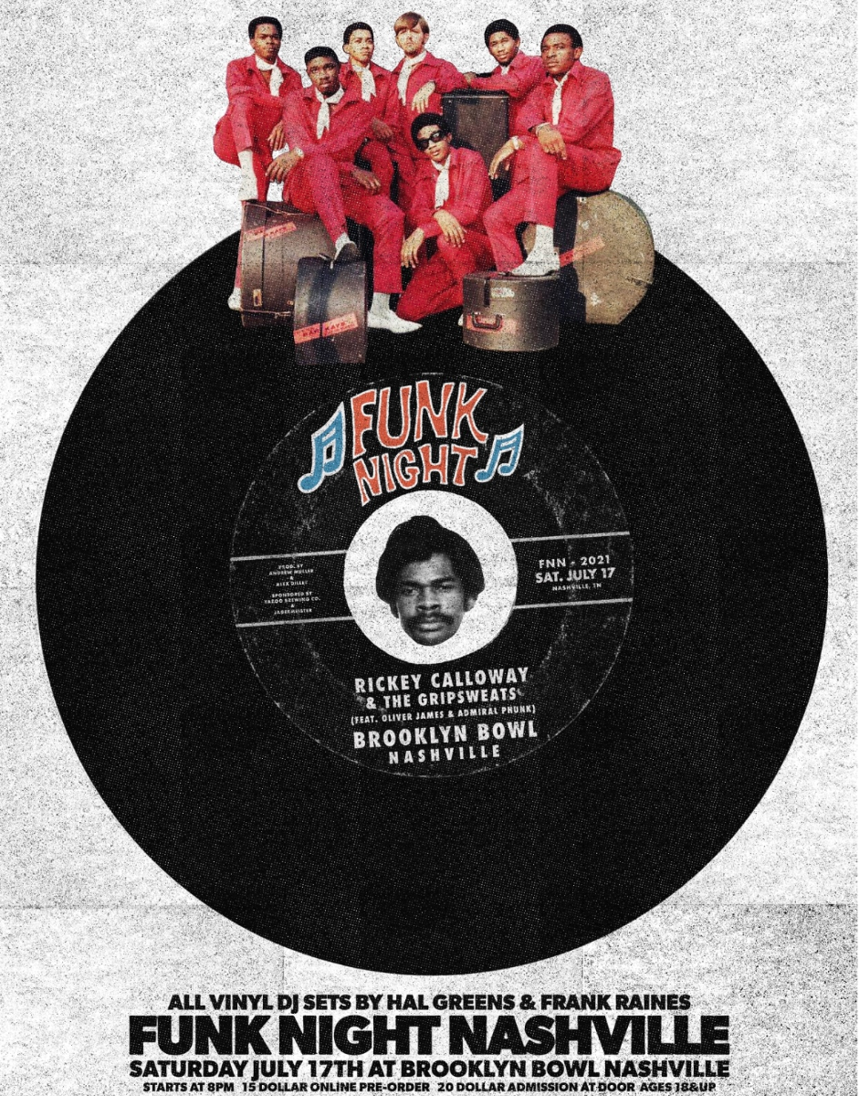 FUNK NIGHT NASHVILLE feat. Rickey Calloway, The Gripsweats, Oliver James, & Admiral Phunk