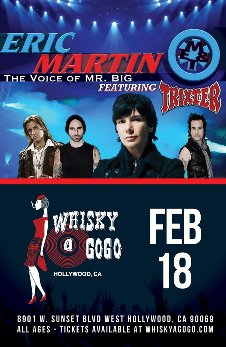 Eric Martin of Mr. Big featuring Trixter, The Hard Way, Rusted Stone