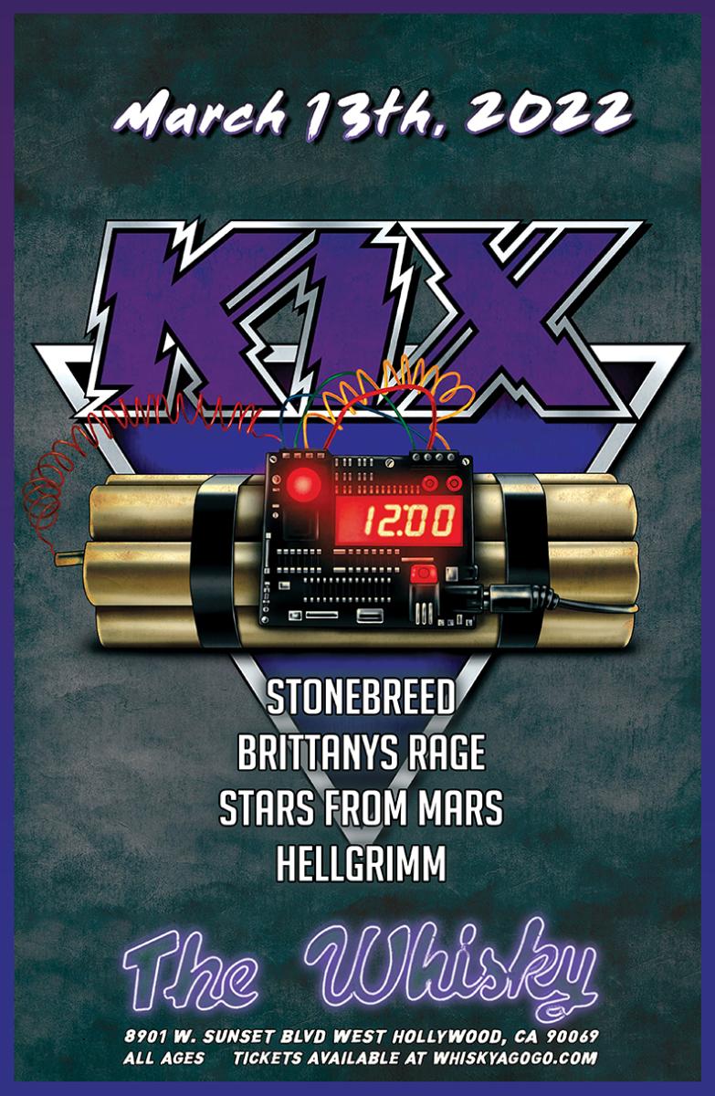 Kix, Stonebreed, Brittanys Rage, Stars From Mars, Hellgrimm