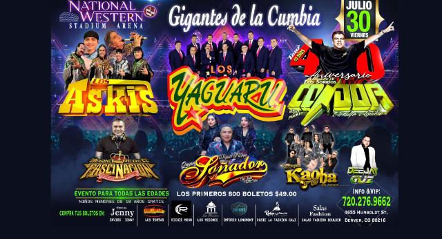 Gigantes de La Cumbia at Denver Coliseum