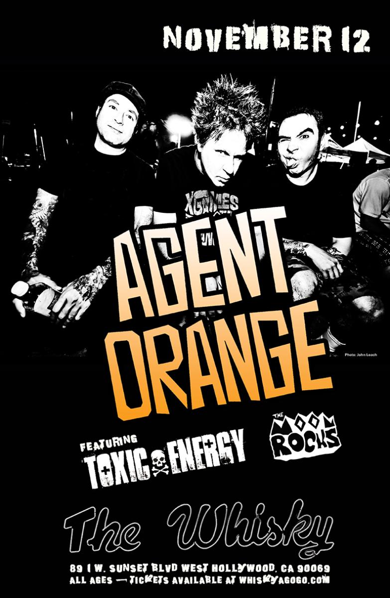 Agent Orange, Toxic Energy, The Moon Rocks, 1984, Demure, Black Market Theory, Banger, Legions