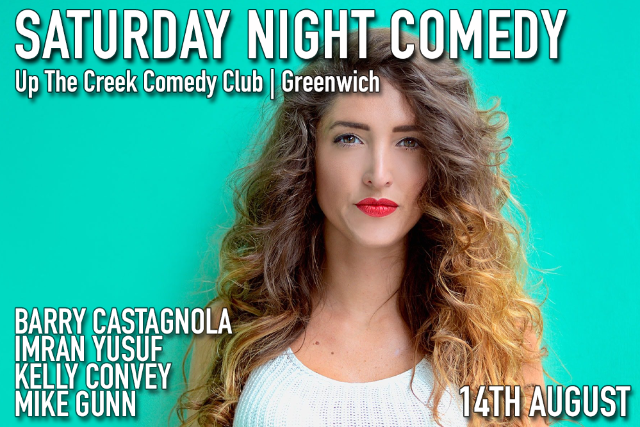 Saturday Night Comedy Sat 14 Aug
