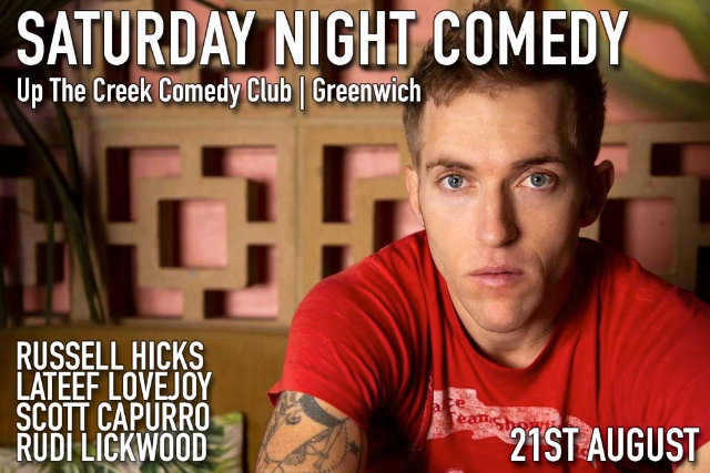 Saturday Night Comedy Sat 21 Aug
